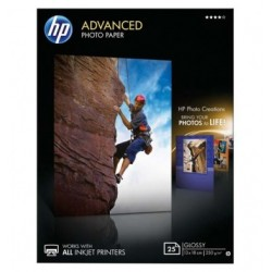 HP Pack de 25 Papier photo...